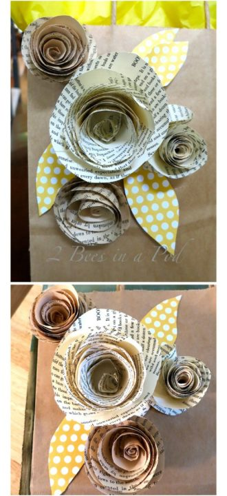 How to make book page flowers 8 diy paper flowers projects sad easy rolled book page roses mightylinksfo