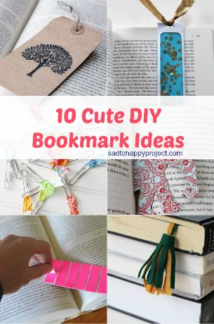 10 Cute Diy Bookmarks L How To Make A Bookmark Easily