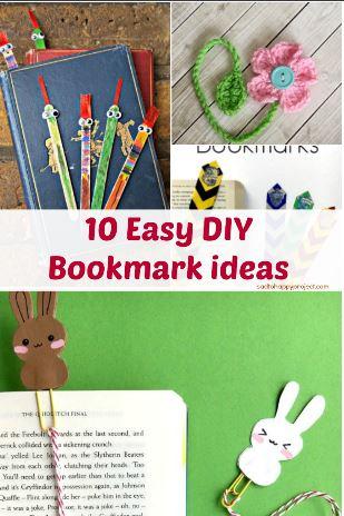 Diy 10 Creative Bookmark Ideas Diy Campbellandkellarteam